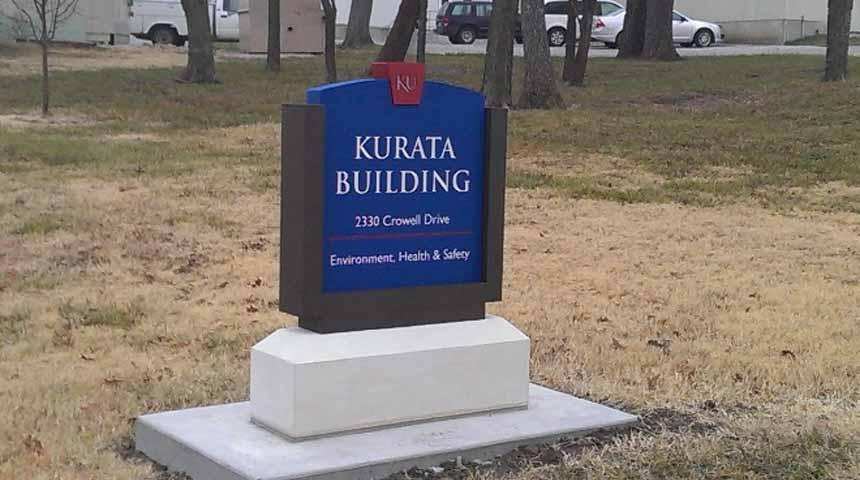 Kurata Building Sign--New Home of Environment, Health and Safety