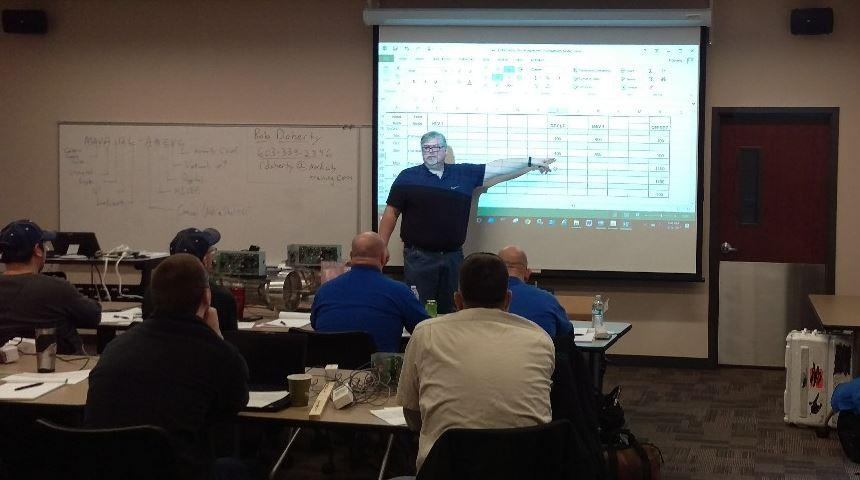 Rob Doherty of Nordicity Training conducting Phoenix Controls Training