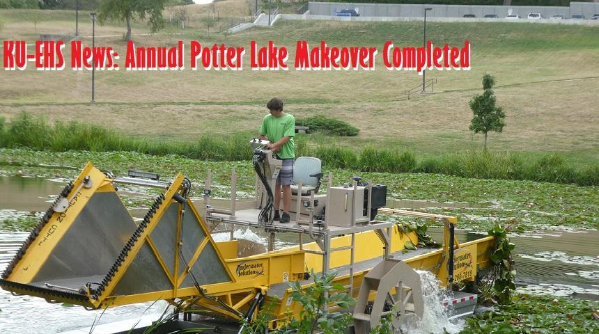 KU-EHS News: Annual Potter Lake Makeover Project Completed